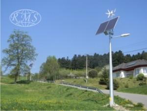 Instalacja oświetlenia drogowego firmy RMS Polska: Lampy hybrydowe - oprawy typu LED