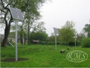solarne lampy parkowe - oświetlenie parku