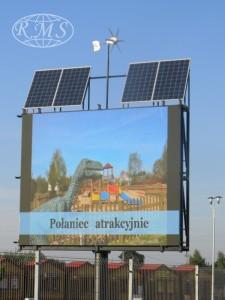hybrydowy system niezależnego oświetlenia reklam