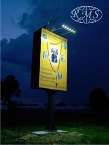 solarny system oświetlenia rekalmy