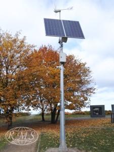 niezależny hybrydowy system zasilania kamer monitoringu