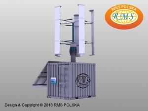 niezależny hybrydowy system zasilania - dystrybutor wody
